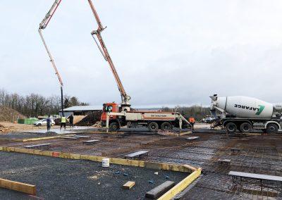 chantier béton armé